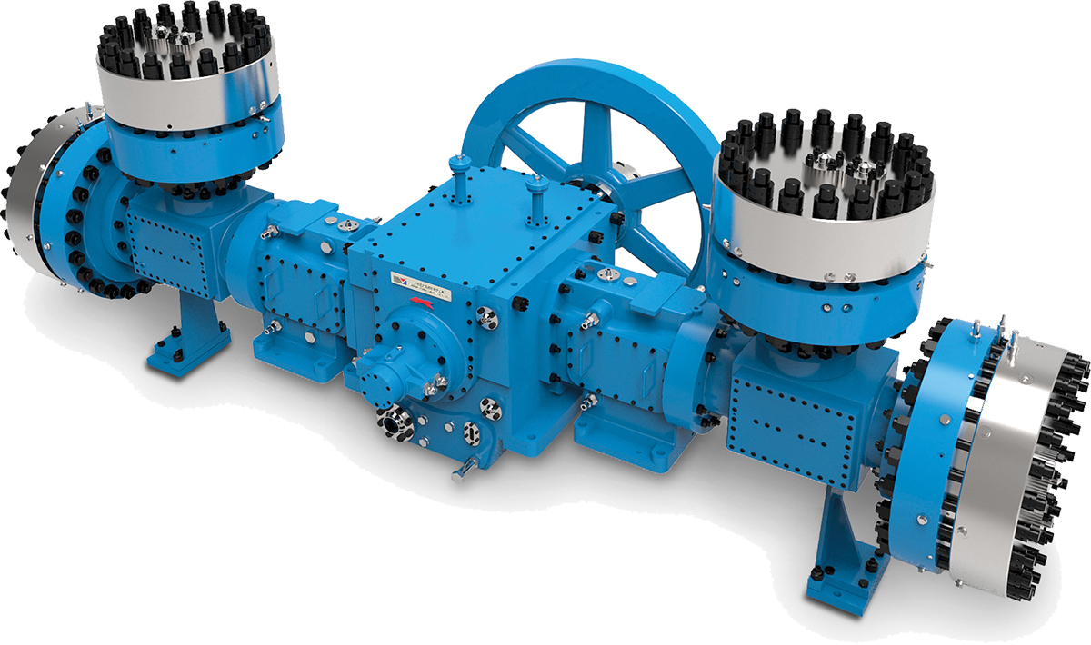 Digital rendering of a SYCC Diaphragm Compressor type MD12-D(Y) on white background
