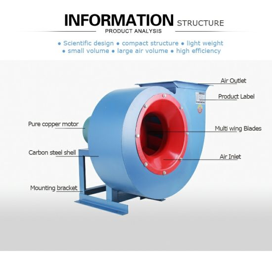 -4-72-Widely-Used-Centrifugal-Blower-with-Large-Airflow-for-Exhausting